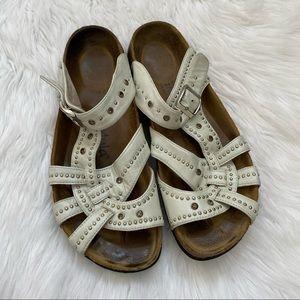 Birkenstock Betula sandal white leather studded 11